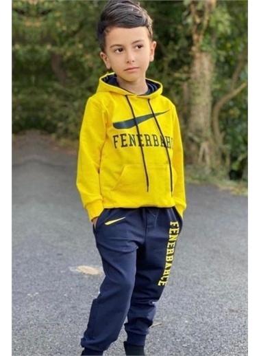 Riccotarz Erkek Çocuk Fb Taraftar Kapşonlu Eşofman Takım Sarı